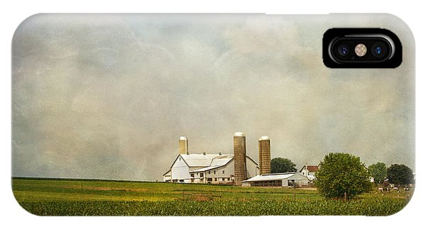 Silos iPhone Case - Amish Farmland by Kim Hojnacki
