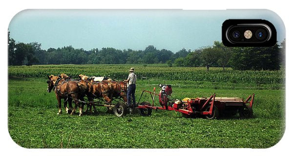 Amish Field Work IPhone Case