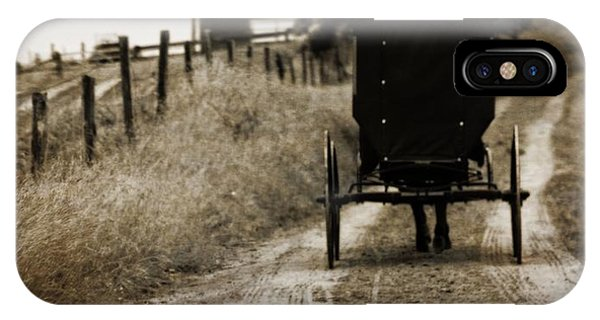 Amish Country iPhone Case - Amish Horse And Buggy by Dan Sproul