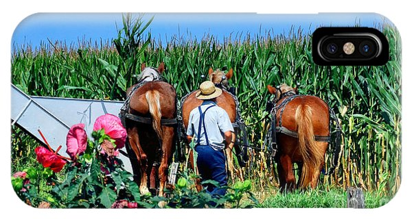 Amish Plowing IPhone Case