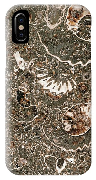 Ammonite Marble Phone Case by Natural History Museum, London/science Photo Library