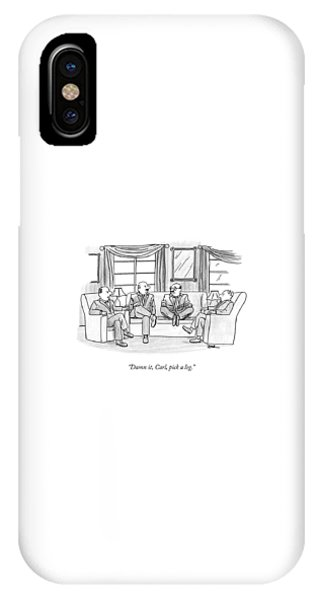 Among Three Other Men With Their Legs Crossed IPhone Case