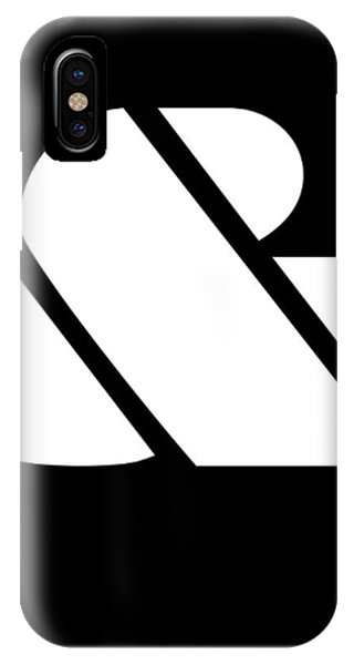 Quote iPhone Case - Ampersand Black And White by Naxart Studio
