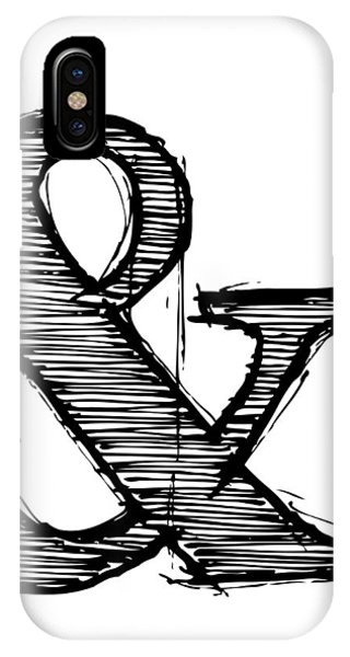 Humor iPhone Case - Ampersand Poster 1 by Naxart Studio