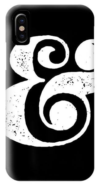 Modern iPhone Case - Ampersand Poster Black by Naxart Studio