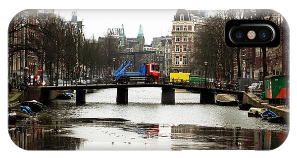 Amsterdam Canal Phone Case by John Rizzuto