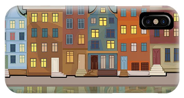 Exterior iPhone Case - Amsterdam City With Reflections In A by Marijapiliponyte