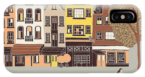 Cycling iPhone Case - Amsterdam Print Design by Lavandaart
