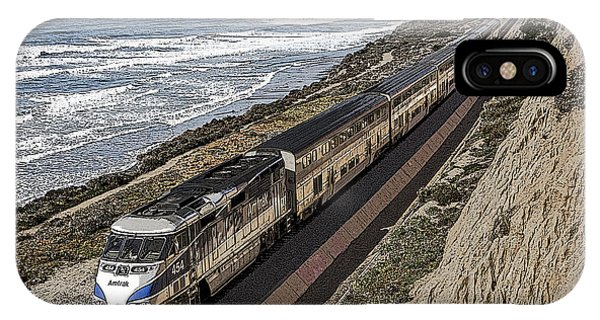 Amtrak By The Ocean IPhone Case