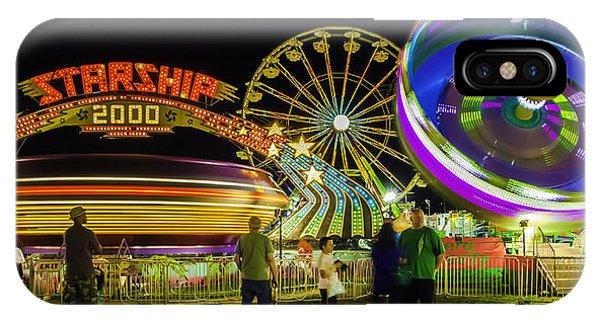 Amusement Park Rides At Night IPhone Case