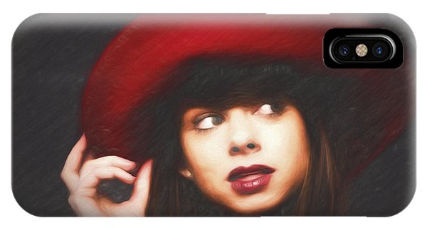 Amy And The Red Hat  ... IPhone Case