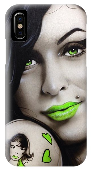 Neon iPhone Case - Amy Jade by Christian Chapman Art