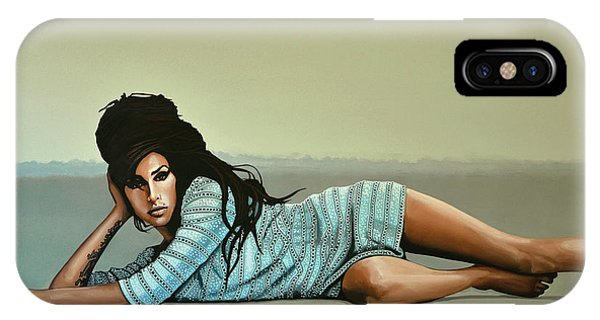 Rhythm And Blues iPhone Case - Amy Winehouse 2 by Paul Meijering