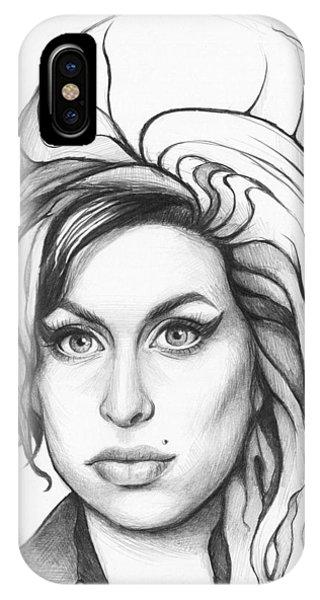 Graphite iPhone Case - Amy Winehouse by Olga Shvartsur