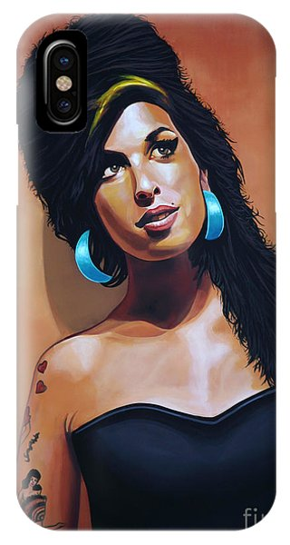 I Love You iPhone Case - Amy Winehouse by Paul Meijering