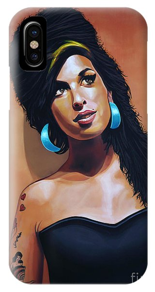 Rhythm And Blues iPhone Case - Amy Winehouse by Paul Meijering