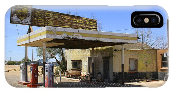 Gas Station iPhone Case - An Abandon Gas Station On Route 66 by Mike McGlothlen
