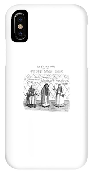 An Advance Visit From The Three Wise Men IPhone Case