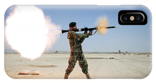 An Afghan National Army Soldier Fires IPhone Case