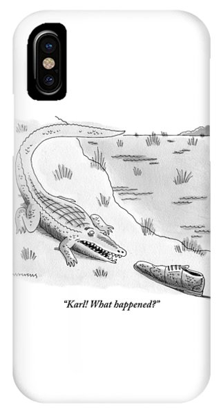 An Alligator Is Seen Speaking To An IPhone Case