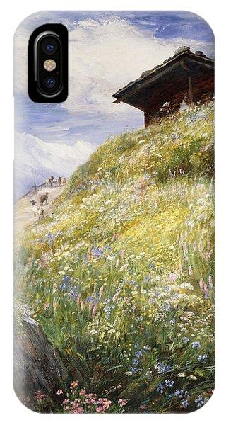 An Alpine Meadow Switzerland IPhone Case