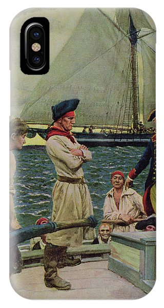 Revolutionary iPhone Case - An American Privateer Taking A British Prize, Illustration From Pennsylvanias Defiance by Howard Pyle