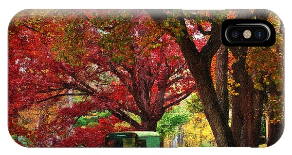 An Amish Autumn Ride IPhone Case