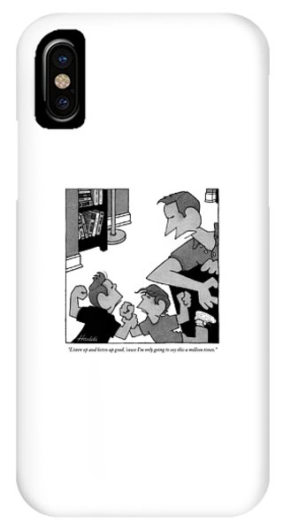 An Angry Father Tells His Two Misbehaving Sons IPhone Case