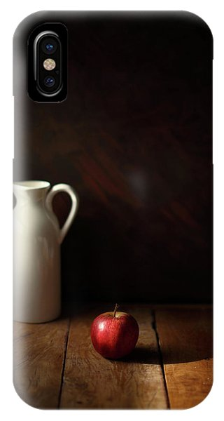 Red Fruit iPhone Case - An Apple by Luiz Laercio