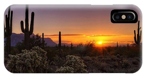 An Arizona Winter Sunrise IPhone Case