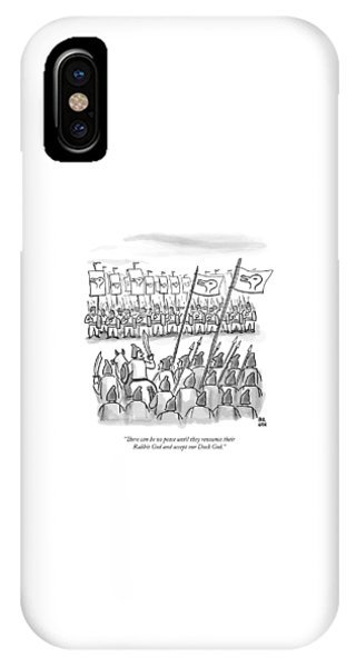 An Army Lines Up For Battle IPhone Case