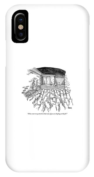 An Assembly Of Cats In A Backyard Led By Three IPhone Case