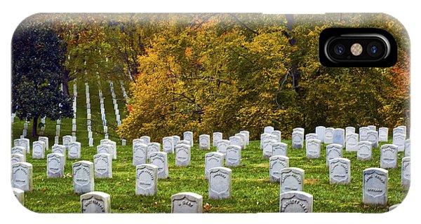 An Autumn Day In Arlington IPhone Case
