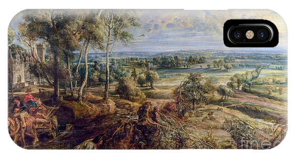 iPhone Case - An Autumn Landscape With A View Of Het Steen by Viktor Birkus