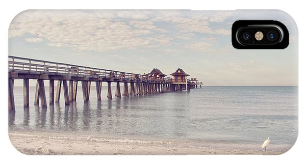 An Early Morning - Naples Pier IPhone Case