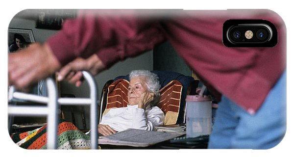 Assisted Living iPhone Case - An Elderly Couple At Home by Ron Koeberer