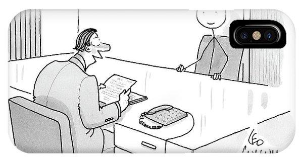 An Employer Interviews A Stick Figure IPhone Case