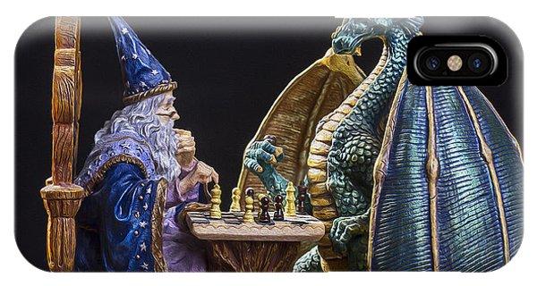 Dungeon iPhone Case - An Epic Chess Match by Bill Tiepelman
