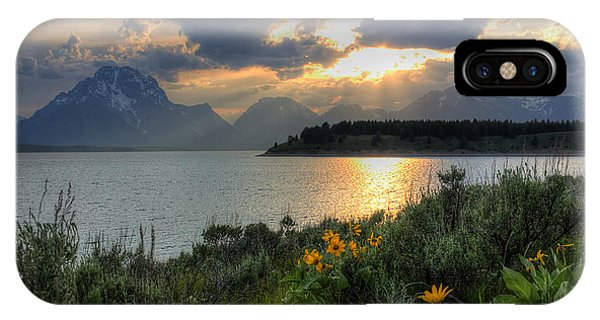 An Evening At Jackson Lake IPhone Case