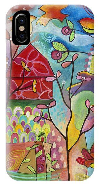 IPhone Case featuring the painting An Evening At The Barn by Carla Bank