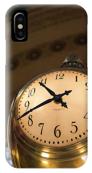 Commute iPhone Case - An Illuminated Clock In Grand Central by David H. Wells