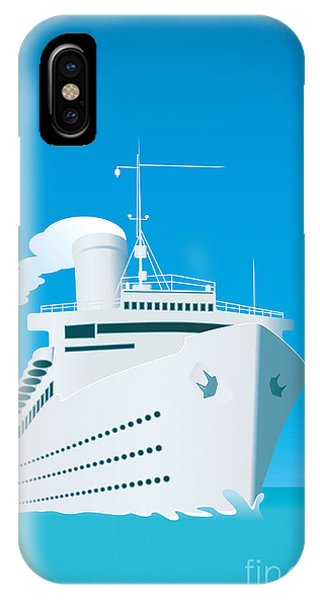 Light Speed iPhone Case - An Image Of A White Cruise Ship And The by Markus Gann