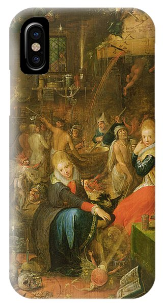 Cauldron iPhone Case - An Incantation Scene, 1606 by Frans II the Younger Francken