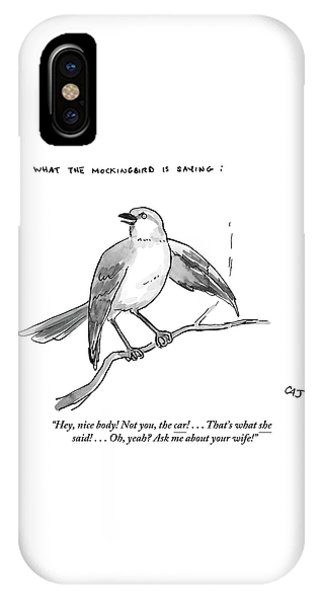 An Incendiary Mockingbird Is Depicted IPhone Case