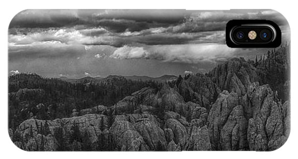 An Incoming Storm Over The Black Hills Of South Dakota IPhone Case