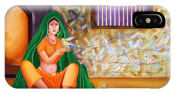 An Indian Village Woman Phone Case by Divya Kakkar