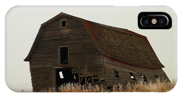 An Old Leaning Barn In North Dakota IPhone Case
