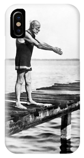 100 iPhone Case - An Old Man Prepares To Dive by Underwood Archives