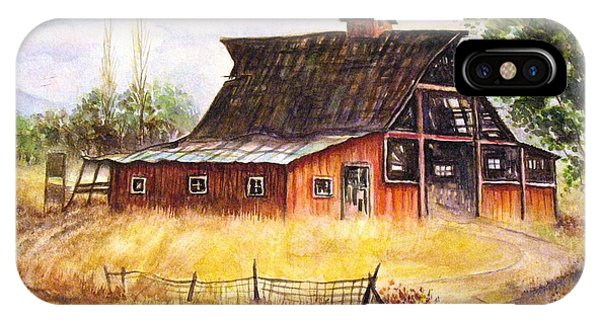 An Old Red Barn IPhone Case