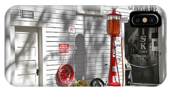 Gas Station iPhone Case - An Old Village Gas Station by Mal Bray